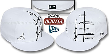 Braves 'GPS' White-Black Fitted Hat by New Era