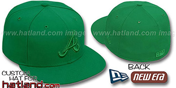 Braves GREENOUT Fitted Hat by New Era