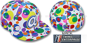 Braves 'GUMBALL' White-Multi Fitted Hat by Twins