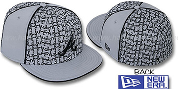 Braves LOS-LOGOS Grey-Black Fitted Hat by New Era