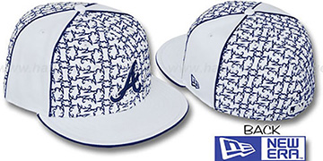 Braves 'LOS-LOGOS' White-Navy Fitted Hat by New Era