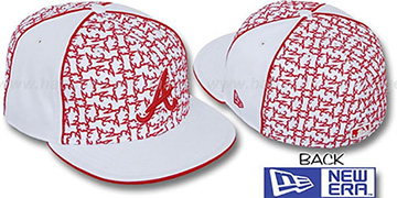 Braves LOS-LOGOS White-Red Fitted Hat by New Era