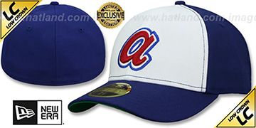 Braves LOW-CROWN 1974 COOPERSTOWN Fitted Hat by New Era