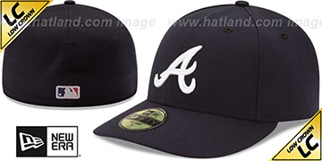 Braves 'LOW-CROWN' ROAD Fitted Hat by New Era
