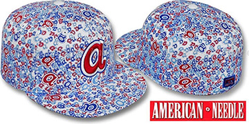 Braves 'MATISE' White-Team Color Fitted Hat by American Needle