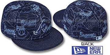 Braves 'MELTON PUFFY' Navy Fitted Hat by New Era