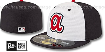 Braves 'MLB DIAMOND-ERA BP' White-Navy Hat by New Era