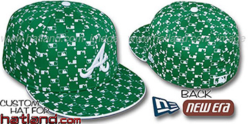 Braves 'MLB FLOCKING' Kelly Fitted Hat by New Era