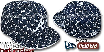 Braves 'MLB FLOCKING' Navy Fitted Hat by New Era