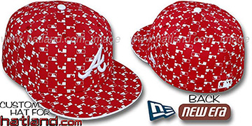 Braves 'MLB FLOCKING' Red Fitted Hat by New Era