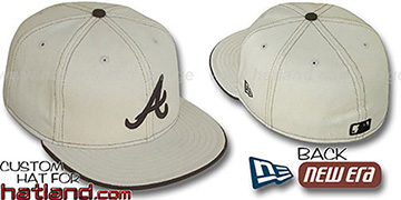 Braves NATURAL DENIM Fitted Hat by New Era