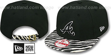 Braves OSTRICH-ZEBRA STRAPBACK Hat by New Era