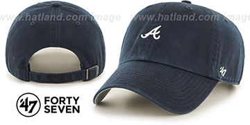 Braves 'POLO STRAPBACK' Navy Hat by Twins 47 Brand