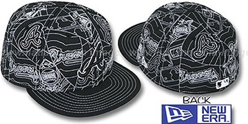 Braves PUFFY REMIX Black-White Fitted Hat by New Era