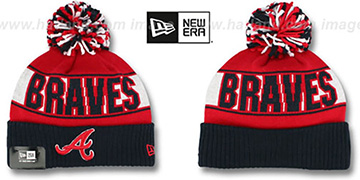 Braves 'REP-UR-TEAM' Knit Beanie Hat by New Era