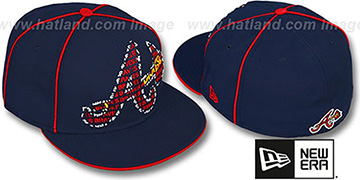Braves 'REPEAT BIG-ONE' Navy Fitted Hat by New Era