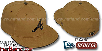 Braves 'RUGGED CANVAS' Fitted Hat by New Era - camel