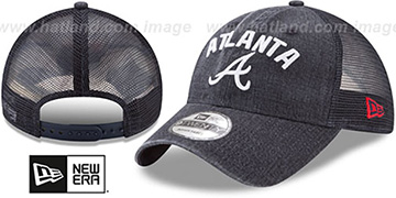 Braves RUGGED-TEAM TRUCKER SNAPBACK Navy Hat by New Era