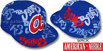 Braves SHOE POLISH ALL-OVER Royal Fitted Hat by American Needle