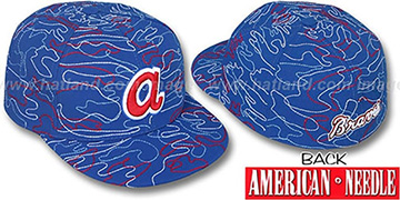 Braves 'SILLY STRING ALL-OVER' Royal Fitted Hat by American Needle