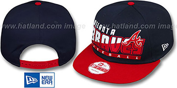 Braves SLICE-N-DICE SNAPBACK Navy-Red Hat by New Era