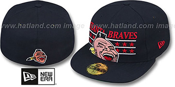 Braves 'STAR STUDDED' Navy Fitted Hat by New Era