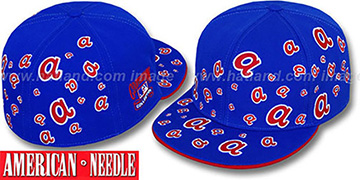 Braves 'STARSTRUCK' Royal Fitted Hat by American Needle