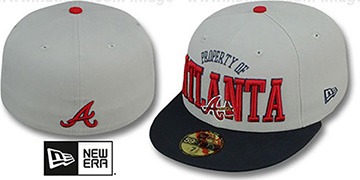 Braves TEAM-PRIDE Grey-Navy Fitted Hat by New Era