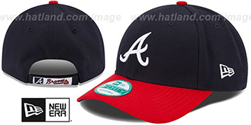 Braves 'THE-LEAGUE GAME STRAPBACK' Navy-Red Hat by New Era