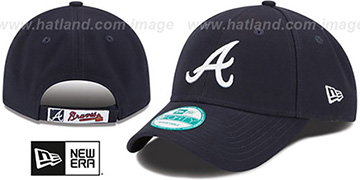 Braves 'THE-LEAGUE ROAD STRAPBACK' Navy Hat by New Era