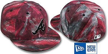 Braves 'TIE-DYE' Red Fitted Hat by New Era