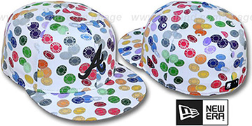 Braves 'TOKENS' White-Multi Fitted Hat by New Era
