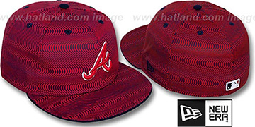Braves TRIPPIN Red-Navy Fitted Hat by New Era