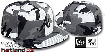 Braves 'URBAN CAMO' Fitted Hat by New Era