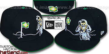 Brazil MOONMAN Black Fitted Hat by New Era
