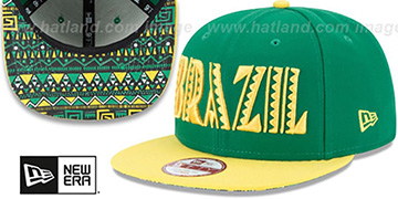 Brazil 'SPLENDOR SNAPBACK' Green-Yellow Hat by New Era