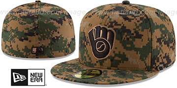 Brewers 2016 MEMORIAL DAY 'STARS N STRIPES' Hat by New Era