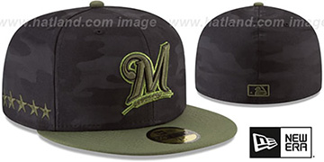 Brewers 2018 MEMORIAL DAY 'STARS N STRIPES' Hat by New Era
