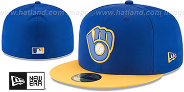 Brewers '2018 PROLIGHT-BP' ALTERNATE Royal-Gold Fitted Hat by New Era