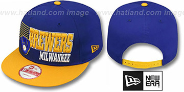 Brewers 2T COOP BORDERLINE SNAPBACK Royal-Gold Hat by New Era