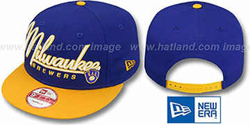 Brewers '2T COOP CHARZ SNAPBACK' Royal-Gold Hat by New Era