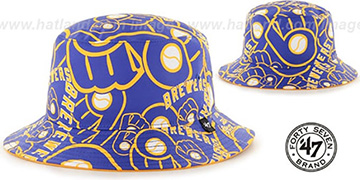Brewers 'BRAVADO BUCKET' Hat by Twins 47 Brand