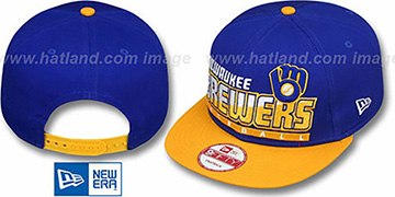 Brewers COOP SLICE-N-DICE SNAPBACK Royal-Gold Hat by New Era