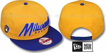 Brewers COOP SNAP-IT-BACK SNAPBACK Gold-Royal Hat by New Era