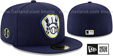 Brewers DASHMARK BP Navy Fitted Hat by New Era