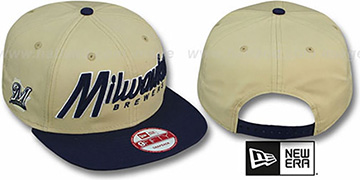 Brewers SNAP-IT-BACK SNAPBACK Gold-Navy Hat by New Era