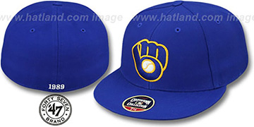 Brewers'1989 COOPERSTOWN ' Fitted Hat by Twins 47 Brand