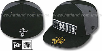 Bridgeport 'PINWHEEL-CITY' Black-Grey-Black Fitted Hat by New Era