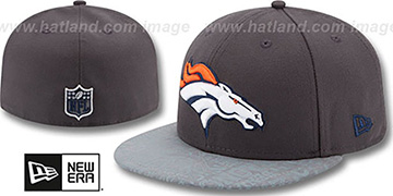 Broncos '2014 NFL DRAFT' Grey Fitted Hat by New Era