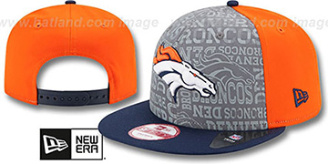 Broncos '2014 NFL DRAFT SNAPBACK' Orange-Navy Hat by New Era